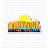 California State Travel Sign Sticker