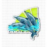 Florida State Dolphins Travel Sign Sticker