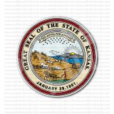 Great Seal of the State of Kansas Sticker