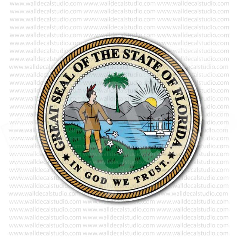 From 4 00 Buy Great Seal Of The State Of Florida Sticker At Print Plus In Stickers State Seals At Print Plus