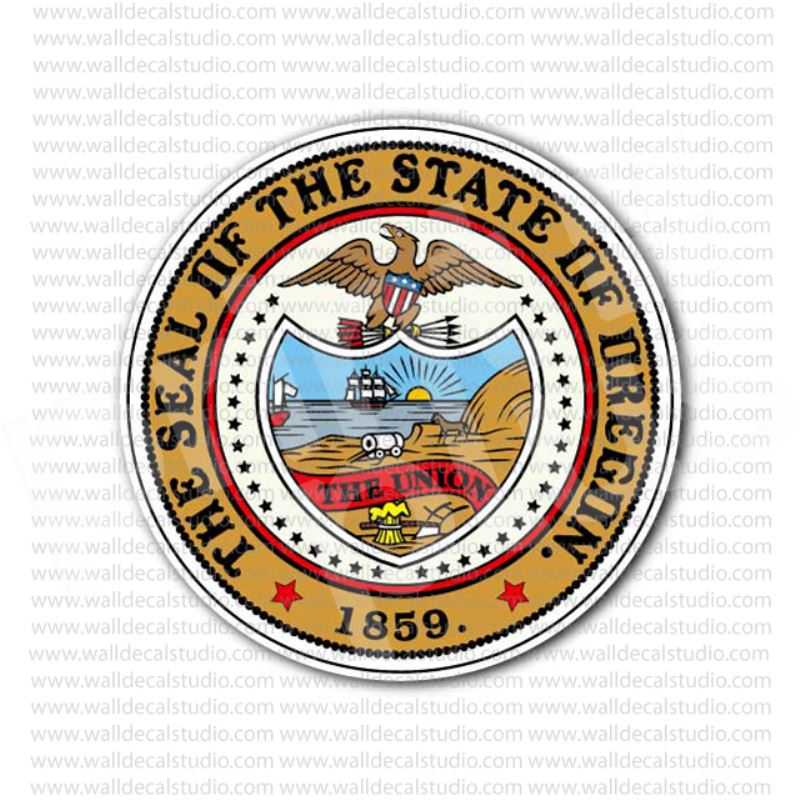 From 4 00 Buy The Great Seal Of The State Of Oregon Sticker At Print Plus In Stickers State Seals At Print Plus